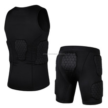 Football Soccer Sleeveless Padding Shirt and short/Compression Padded shirt/Padding Short