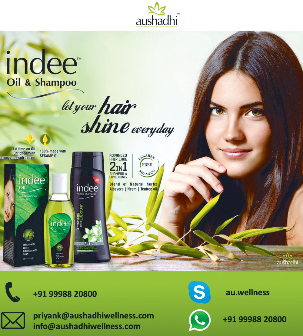 Indee natural hair oil for hair growth with Jati