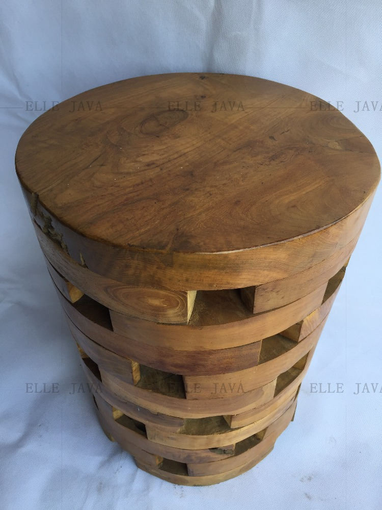 Hotest Sale Teak Root Furniture Round Stool 45x30x30cm