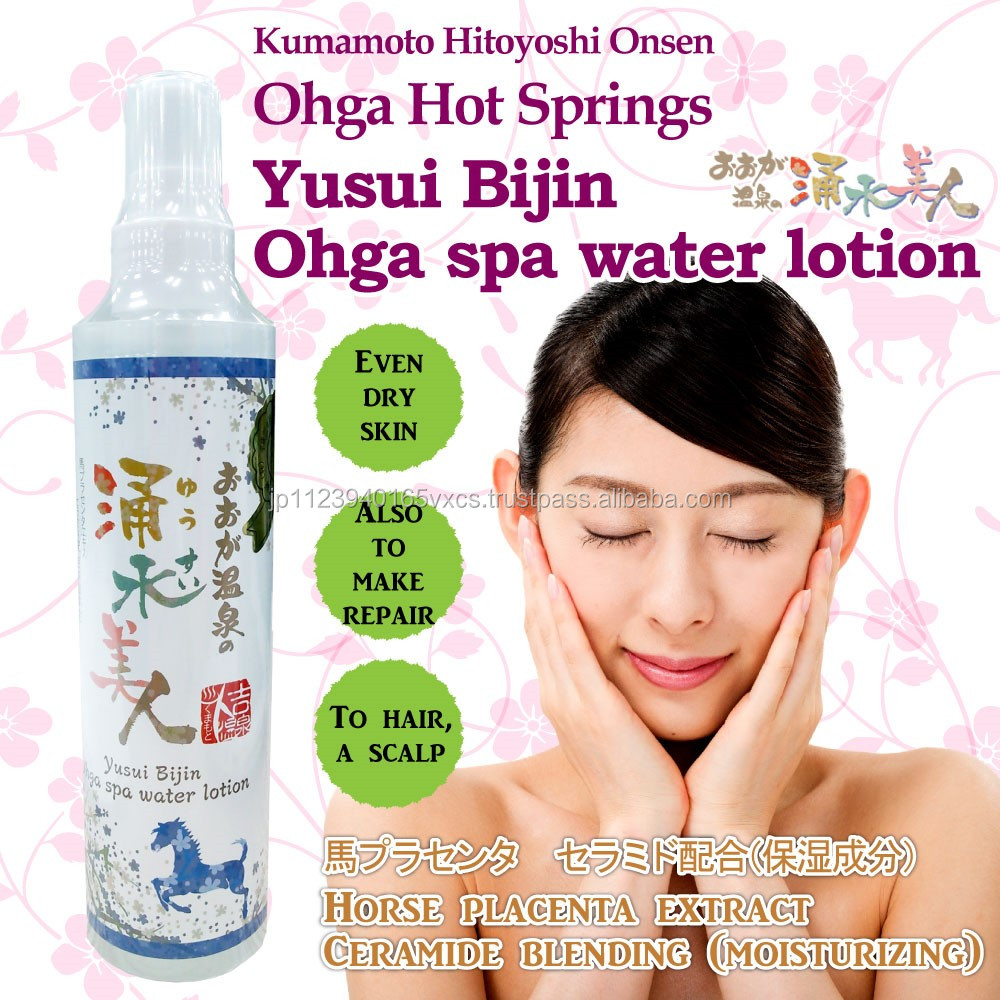 High penetration hot spring water and placenta face cream for anti-ageing