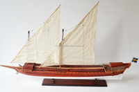 Wooden model boat - Galar 120cm - Wooden boat model for sale