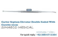 Carter Septum Elevator Double Ended With Curette 21cm