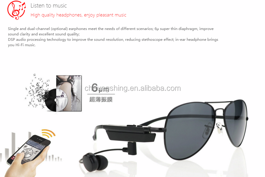 2017 Good Looking Casual Style Bluetooth Sport Sunglasses