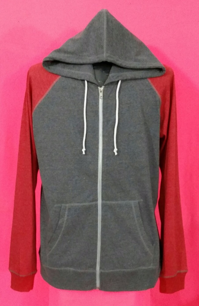 WE ARE OFFERING THIS PRODUCT FROM OUR GARMENT DIVISION 60% COTTON 40% POLYESTER SINGLE JERSEY 200 GSM FULL ZIP HOODIE