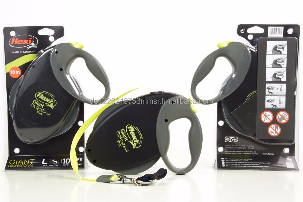 Flexi Giant Professional- 10m/50kg Tape Leash- Black-Neon- The Original from Germany