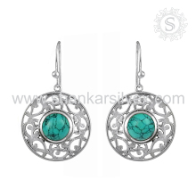 Back To Nature Sky Turquoise Earring 925 Sterling Silver Jewelry Wholesale Silver Jewelry Wholesaler