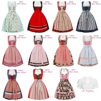 Oktoberfest Dirndl Traditional Bavarian Trachten Kleid Designer Dress Wiesn Rose Flower Wholesale Vintage Party Evening Prom