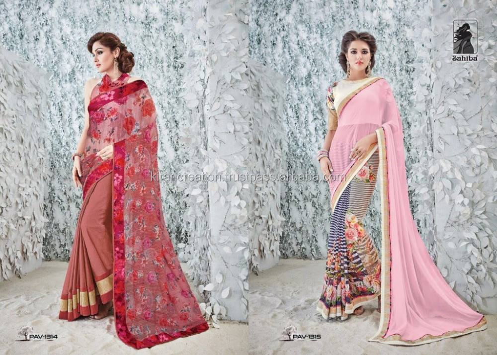 Printed casual wear saree for women