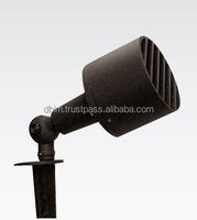Outdoor adjustable landscape garden spotlight E27 lamp holder with glare guard, spike / mounting type