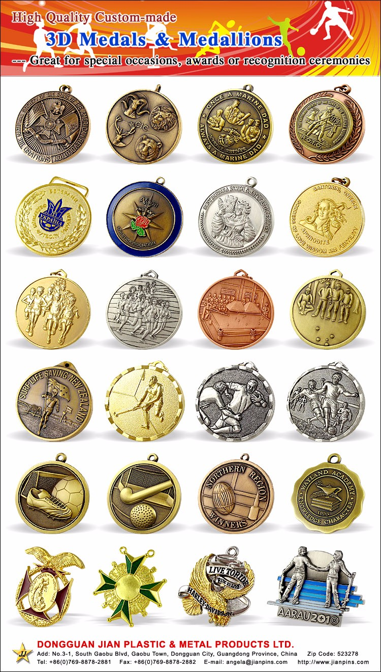 EN71-3 Metal Crafts Custom Cheap Stand Sport Medal for Souvenir