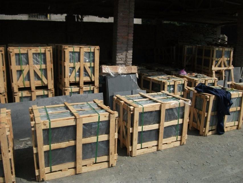Chinese slate natural stone black slate slabs for sale