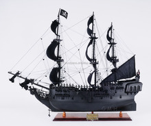 Black Pearl Pirate Ship (L80) Wooden Handmade Model Historic Ship