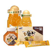 Honey Citrus Tea Raised in Jeju 4 Types Korea Healthy Tea Sweet Tasty Rich Mineral Varied Vitamins Natural Nutrient Fruit Best