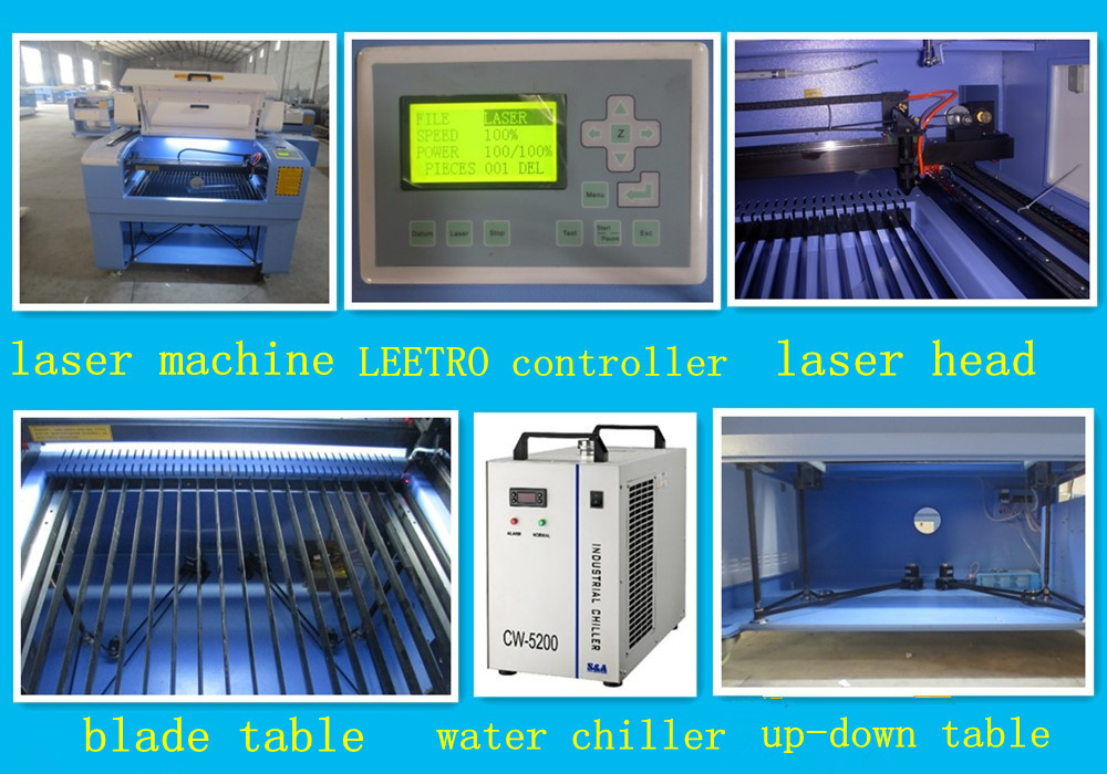 Reci 80w 100w 130w laser cutting and engraving machine