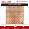 Designer Grid Square PVC Laminated Drop Ceiling and Wall Panel Tiles for Sale
