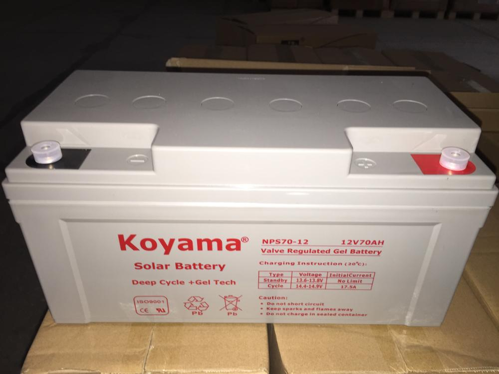 DS-EV Series Top Quality 12V Solar Battery Gel battery 65Ah deep cycle battery