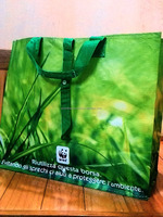 Grocery packaging bag PP woven shopping bag with long nylon trap and buttons closure