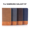 Leather Case For Samsung Galaxy S7 with Card Holder and Flip Stand Wallet Case
