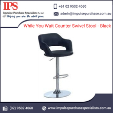 While You Wait Counter Swivel Stool - Black