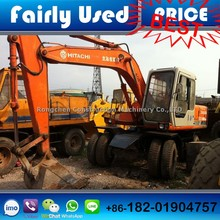 Good condition used Hitachi EX100WD-1 wheel excavator Japan made Hitachi wheel excavator EX100WD-1 for sale