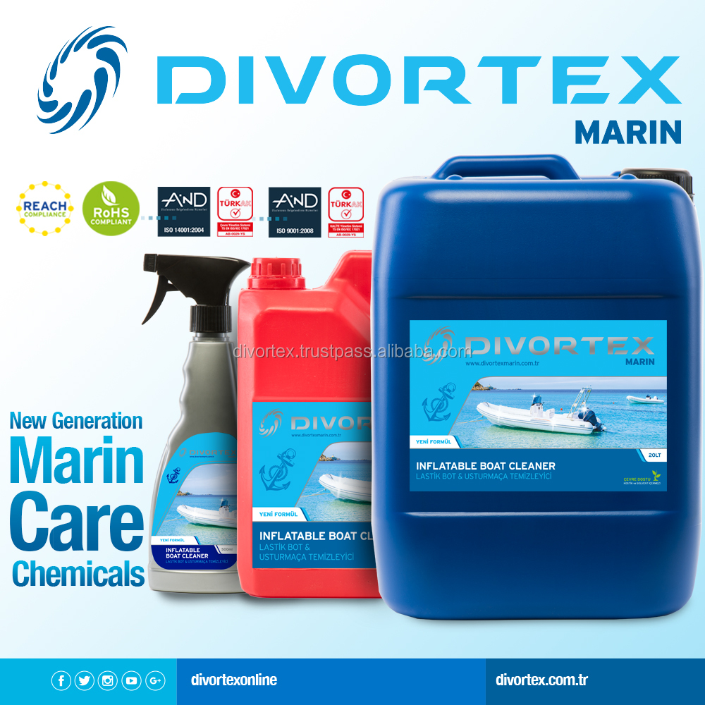 INFLATABLE BOAT CLEANER BOAT FENDER CLEANER DIVORTEX MARIN