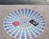 "76""Inch New Roundie Round Mandala Hippie Tapestry Bohemian Beach Throw Towel Yoga Mat Tapestry By Rockfield"