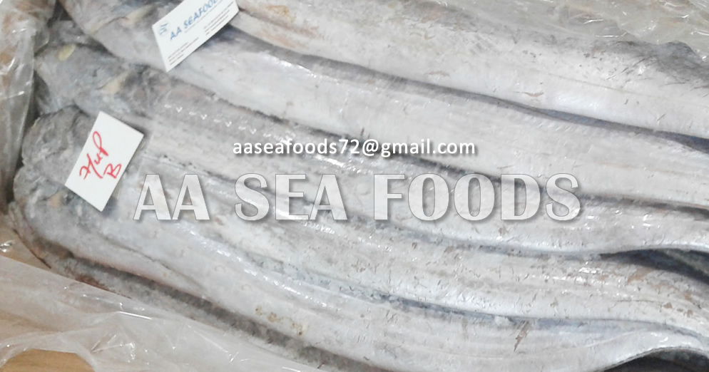 Famous seafood product ribbon fish frozen style whole/hairtail fish