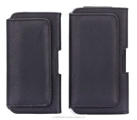 For iPhone 6 4.7inch 6 Plus 5.5 inch Wallet PU Leather Clip Belt Case Pouch Plain Weave Holster phone Bag Fashion Black Color