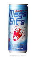 Cheetah Mega Bite Carbonated Energy Drink ( Icy Berry )
