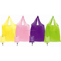 50pcs Nylon Foldable Carrier Bag with Pouch (B0266)