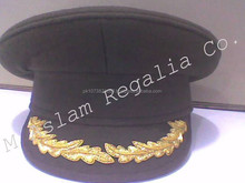 Army Navy Military Officer embroidered Peak Cap