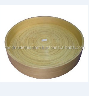 Modern design High quality Vietnam bamboo tray for serving trays natural color
