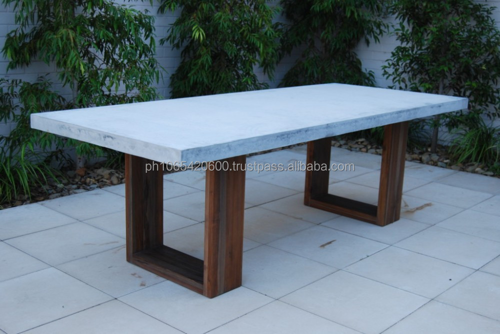 stone outdoor dining table sydney furniture cast tables solid hard faux