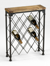 Industrial Wine Rack with wooden top