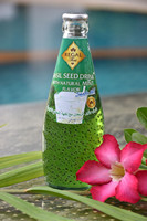Basil Seed Drink with Mint Flavor in glass bottle (290ml)