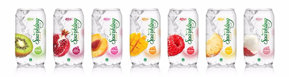 Viet Nam 350ml Pet Canned Mango flavor Sparkling Coconut water drink