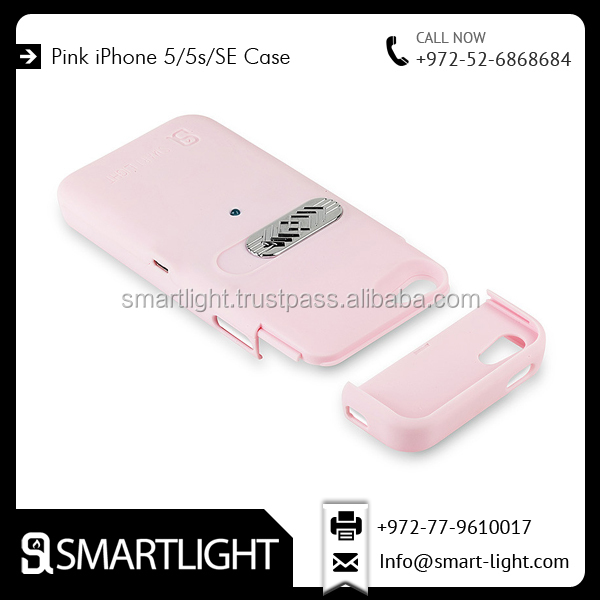 Hard Material Pink Colour Rubber Coated Cigarette Lighter Case for iPhone 5s