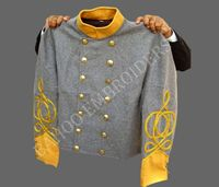 ACW Double Breasted Shell Jacket With Yellow Cuff & Collar
