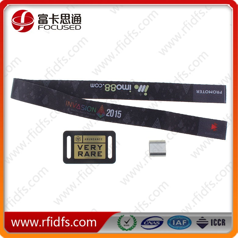 Free Samples Are Availablelow Cost Disposable Fabric Rfid Wristband As Ticket For Event And