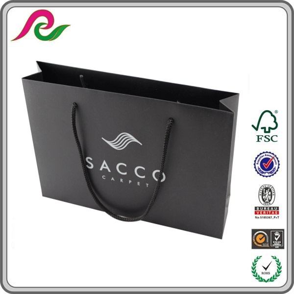 High quality laminated black paper bag