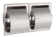 Stainless Steel 304 Recessed Double Toilet Roll Paper Holder