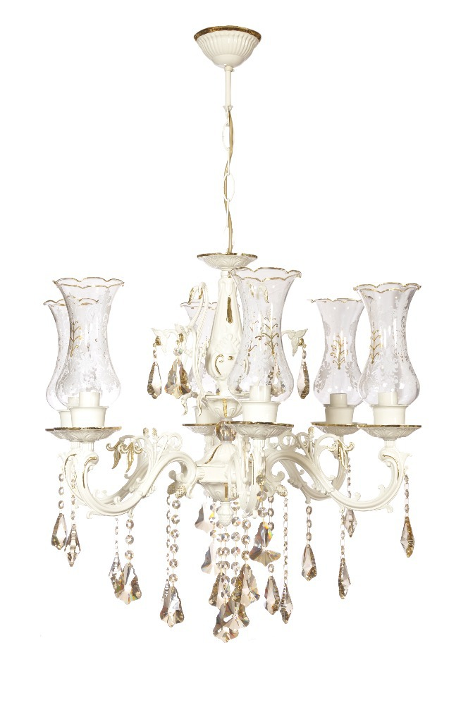 TUNC AVIZE 6LIGHT SPECIAL CHANDELIER SPECIAL LEAF PROCESSING ON WHITE