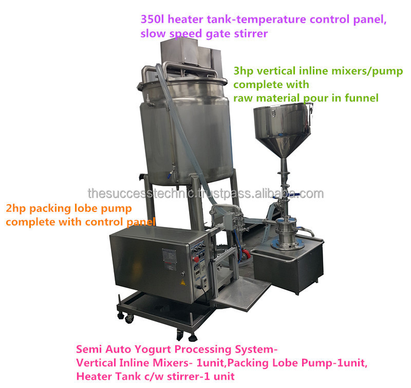 VT300-03 Yogurt Processing Inline homogenizer/high shear mixer/Dyna-Flyer-VT300