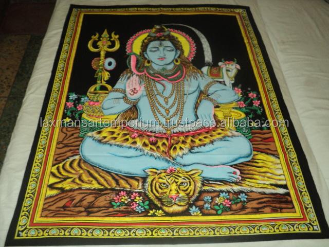 ganesha printed wall hangings tapestry