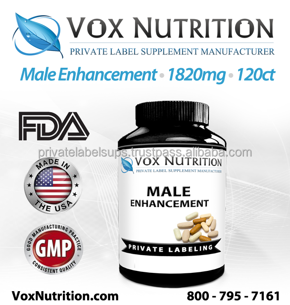 Male Enhancement 1820 mg Supplement, 120 count - Private Label Enhance Plus Male Enhancement Supplement