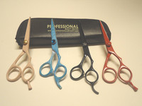 4 PCS HIGH QUALITY DOG PET CAT GROOMING SHEARS SCISSORS VARIETY SET EXCELLENT