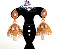 INDIAN ETHNIC JHUMKA EARRINGS-BRIDAL JHUMKA EARRINGS-WHOLESALE SOUTH INDIAN JHUMKA EARRINGS-PAKISTANI PEARL JEWELRY ONLINE