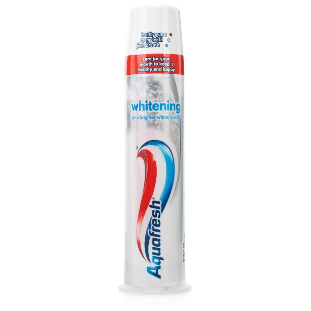 Aquafresh whitening toothpaste pump 100ml X6 pack