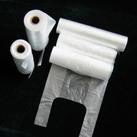Vietnam PE Plain/ Unprinted Shopping T-shirt bag on roll with paper core