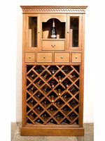 Country style wine cabinet 27 bottles